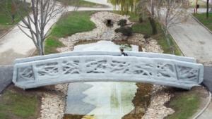 Gedruckte Fußgängerbücke: Rohmaterial wiederverwendet