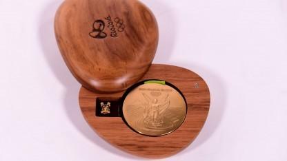 Goldmedaille für die Olympischen Spiele in Rio 2016 (Symbolbild): acht Tonnen Edelmetall