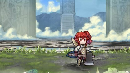 Die rundenbasierten Kämpfe von Fire Emblem Heroes werden in einem Extrafenster visualisiert.