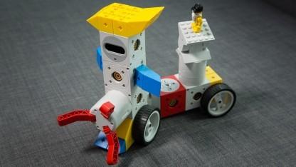 Unser Tinkerbot-Eigenentwurf Drumpy