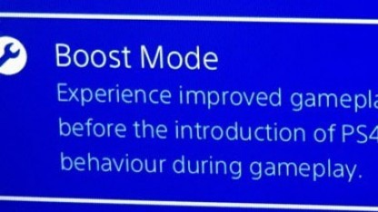 Boost Mode der PS4 Pro