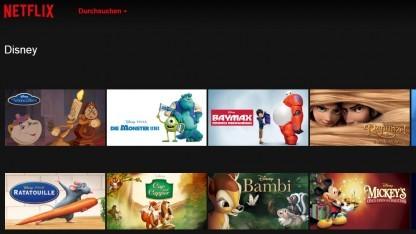 Eine Disney-Kategorie gibt es regulär nicht bei Netflix.