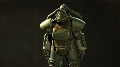 Eine Power-Rüstung aus Fallout 4 mit Hi-Res-Texturen