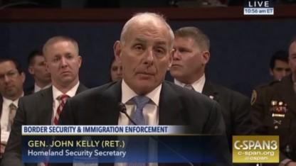 US-Heimatschutzminister John Kelly bei der Anhörung vor dem Kongress