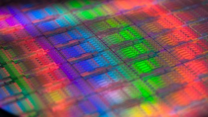 Wafer mit Haswell-EP-Chips