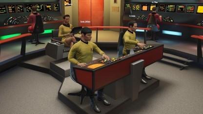Die Brücke der - für viele Fans - einzig wahren USS Enterprise in Bridge Crew.