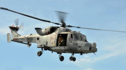 Ein Hubschrauber vom Typ Wildcat AW159