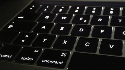 Tastatur des neuen Macbook Pro