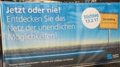 Countdown der Deutschen Glasfaser