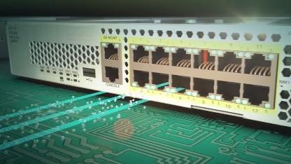 Die Firepower-2100-Serie hat mehrere überwachte Ethernet-Ports.