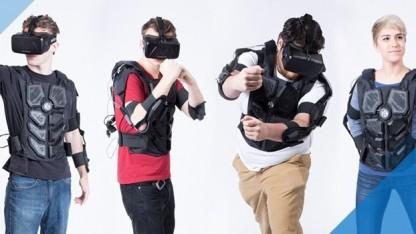 Der Hardlight VR Suit an verschiedenen Trägern
