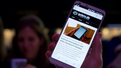 LGs hat sein neues Topsmartphone G6 auf dem MWC präsentiert.