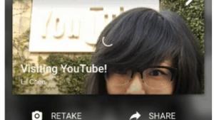 Ein Youtube-Livestream startet per App.
