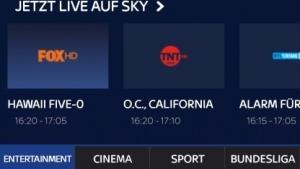 Sky Ticket auf einem Android-Smartphone