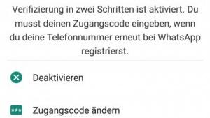Die aktivierte Option bei Whatsapp.