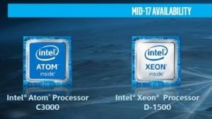 Die Atom C3000 und die aktualisierten Xeon D-1500 sollen im Sommer 2017 erscheinen.