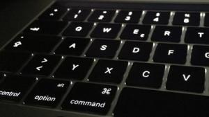 Eine Macbook-Tastatur von Apple
