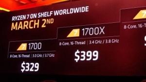 AMD Ryzen 7 Marktstart steht kurz bevor