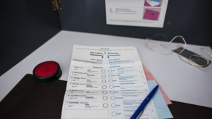 Wahlkabine im September 2013