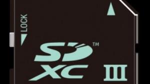 Beispiel einer UHS-III-Speicherkarte im SD-Format