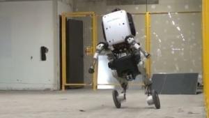 Rollender Roboter Handle:  Bewegungsabläufe wie ein Inline-Skater