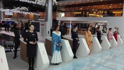 Ein Stand von Huawei in Halle 1