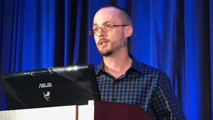 Jay Posey von Red Storm Entertainment auf der GDC 17.