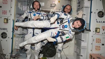 Die italienische Astronautin Samantha Cristoforetti auf der ISS 2015: nur deutsche Männer im All