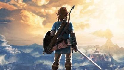Link und Hyrule auf dem Cover für Breath of the Wild