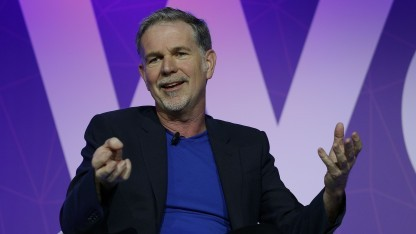 Netflix-Chef Reed Hastings auf dem MWC 2017 in Barcelona
