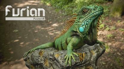 Ein Grüner Leguan, der per Furian-Architektur berechnet wurde