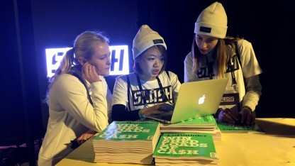 Auf der Slush-Tech-Start-up-Konferenz in Helsinki im Jahr 2016