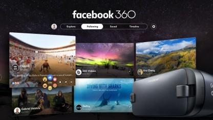 Facebook hat eine Gear-VR-App für 360-Grad-Inhalte herausgebracht.