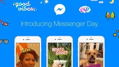 Facebook bringt mit Messenger Day eine neue Funktion für seine Chat-App.