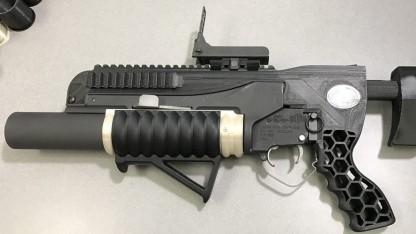 3D-gedruckter Granatwerfer Rambo
