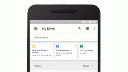Die Quick-Access-Funktion auf einem Android-Smartphone