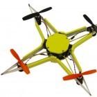 Fiberglas und Magneten: Wabbeliger Quadcopter übersteht Stürze