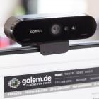 Webcam Logitech Brio im Test: Zum Skypen fast zu schade
