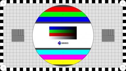 Der Eizo Monitortest zeigt auch ein klassisches Testbild an.