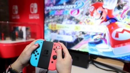 Switch bei einer Präsentation von Nintendo