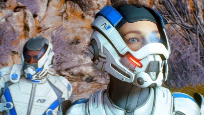 Sarah im ersten Einsatz von Mass Effect Andromeda
