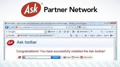Die bei vielen Nutzern unbeliebte Ask.com-Toolbar hat Malware verteilt.