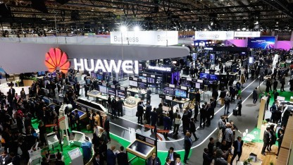 Huawei ist wieder mit einem kleinen Messestand auf der Cebit.