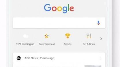 Die neue Shortcut-Leiste von Googles Such-App