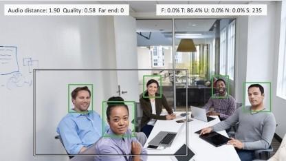Das Spark Room Kit kann Gesichter erkennen und Sensoren danach ausrichten.