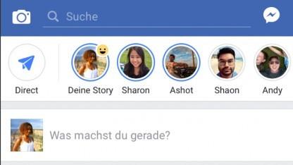 Die Stories sind in der App von Facebook über der Timeline zu finden.