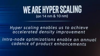 Hyperscaling heißt Intels neuer Marketingslogan für die Fertigungstechnik.