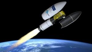 Abtrennung des Sentinel-2B (künstlerische Darstellung): alle fünf Tage die gesamte Erde abgelichtet