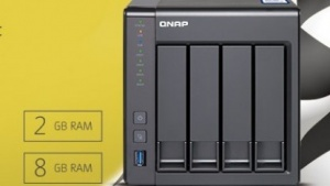 Das TS-431X wird mit 2 oder 8 GByte RAM angeboten.