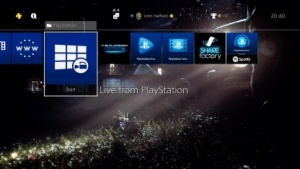 Desktop der PS4 mit Wallpaper